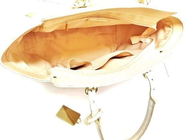 サマンサ&シュエット ハンドバッグ - - ピンクベージュ×アイボリー 7