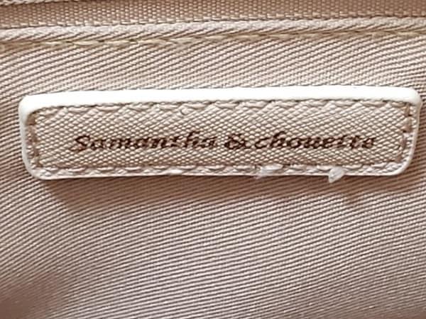 サマンサ&シュエット ハンドバッグ - - ピンクベージュ×アイボリー 8