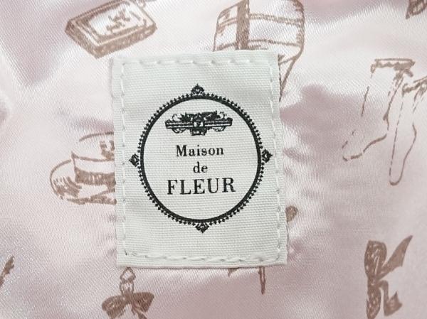 Maison de FLEUR(メゾンドフルール) トートバッグ ライトグレー 化学繊維