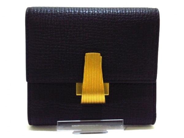 ボッテガヴェネタ 3つ折り財布美品  パルメラート P00848491V 黒 レザー