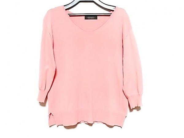 JUSGLITTY(ジャスグリッティー) 七分袖セーター サイズ2 M レディース ピンク
