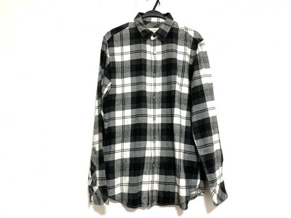 DIESEL(ディーゼル) 長袖シャツ サイズL メンズ美品  白×黒×グレー チェック柄