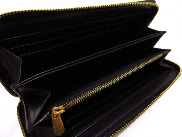 ChristianDior(クリスチャンディオール) 長財布美品  - 黒×ゴールド 3