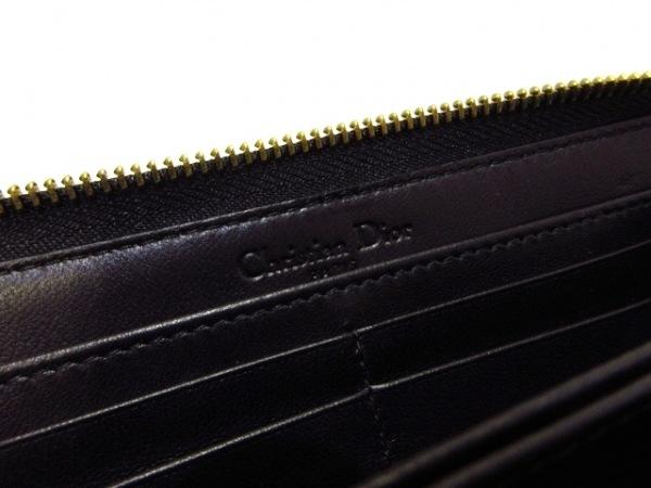 ChristianDior(クリスチャンディオール) 長財布美品  - 黒×ゴールド 5