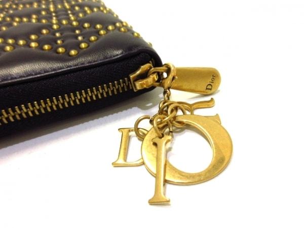 ChristianDior(クリスチャンディオール) 長財布美品  - 黒×ゴールド 6