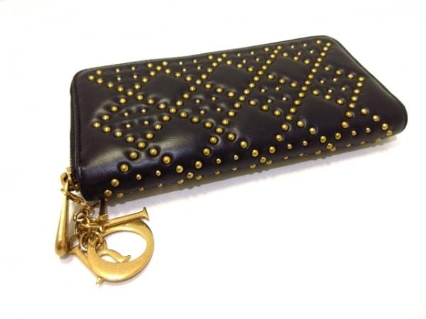 ChristianDior(クリスチャンディオール) 長財布美品  - 黒×ゴールド 8