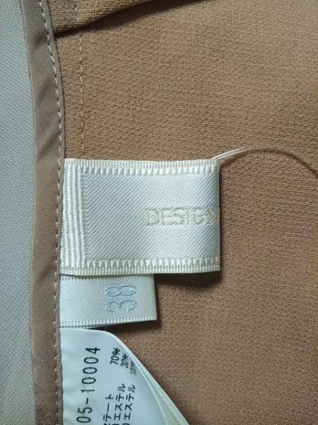 DESIGNWORKS(デザインワークス) 長袖カットソー サイズ38 M レディース美品  ベージュ