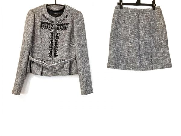 nanettelepore(ナネットレポー) スカートスーツ サイズ4 S レディース グレー×黒