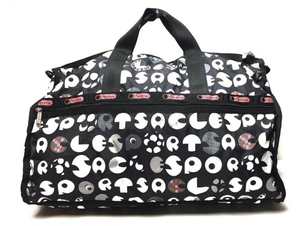 LESPORTSAC(レスポートサック) ボストンバッグ美品  黒×白×マルチ レスポナイロン