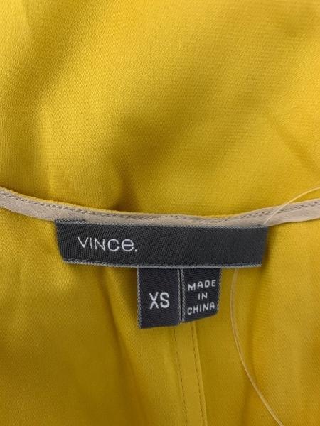 VINCE(ヴィンス) ノースリーブカットソー サイズXS レディース イエロー