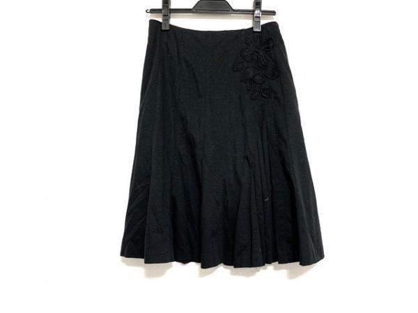 ソニアリキエル スカート サイズ38 M レディース美品  黒 フラワー/SONIA