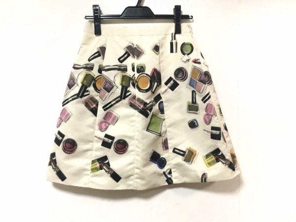 モスキーノ チープ&シック スカート サイズ40 ( I ) レディース アイボリー×マルチ