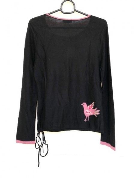ソニアリキエル 長袖セーター サイズ40 M レディース 黒×ピンク×ライトグリーン