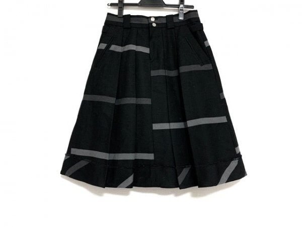 ソニアリキエル スカート サイズ36 S レディース美品  黒×グレー ボーダー