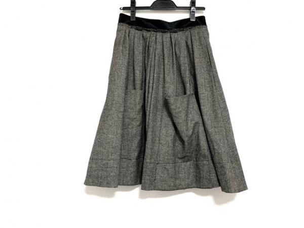ソニアリキエル スカート サイズ38 M レディース美品  グレー×黒 ツイード
