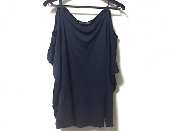 GIVENCHY(ジバンシー) 半袖カットソー サイズXS レディース ネイビー 変形デザイン
