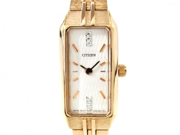 CITIZEN(シチズン) 腕時計美品  GN-0-S レディース ラインストーン 白