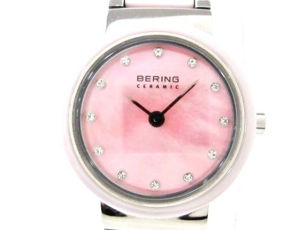 BERING(ベーリング) 腕時計美品  10725-999 レディース シェル文字盤 ピンク