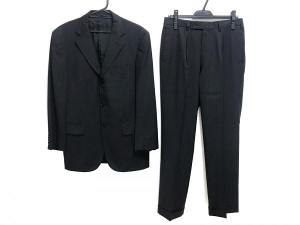 NEW YORKER(ニューヨーカー) シングルスーツ サイズYA6 メンズ 黒 ストライプ