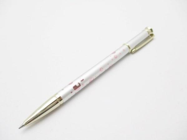 ミキモト ボールペン新品同様  シルバー×ピンク×マルチ インクあり(黒)/ドット柄