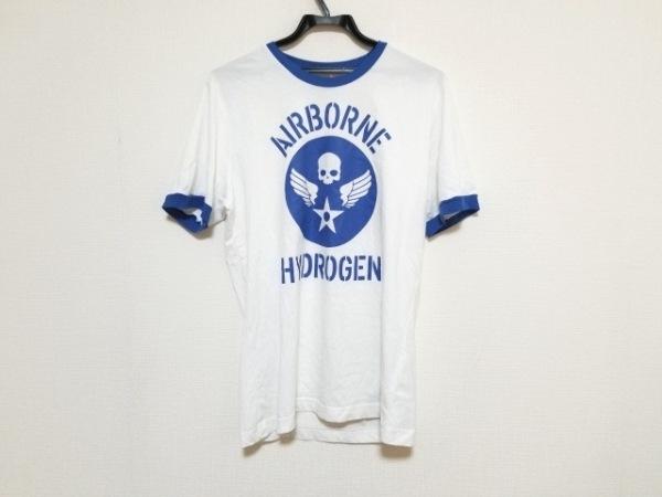 HYDROGEN(ハイドロゲン) 半袖Tシャツ サイズM レディース美品  白×ブルー