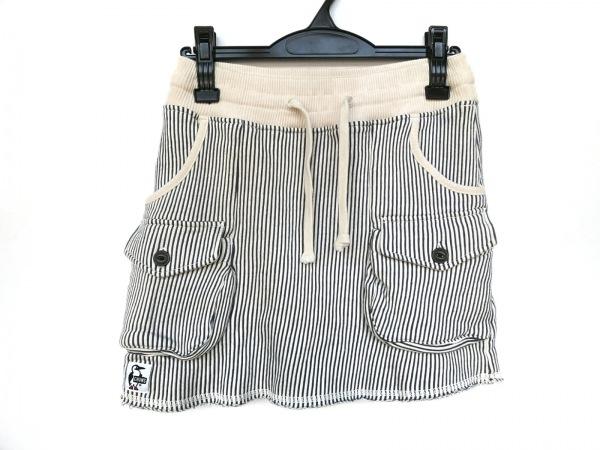 CHUMS(チャムス) ミニスカート サイズM レディース新品同様  アイボリー×ネイビー