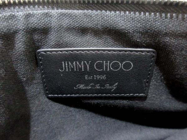 JIMMY CHOO(ジミーチュウ) クラッチバッグ美品  サラ 黒 スター レザー
