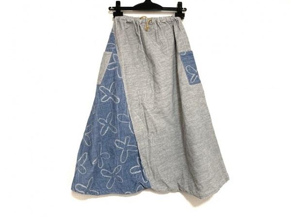 SOU・SOU(ソウソウ) パンツ サイズL レディース ライトグレー×ブルー