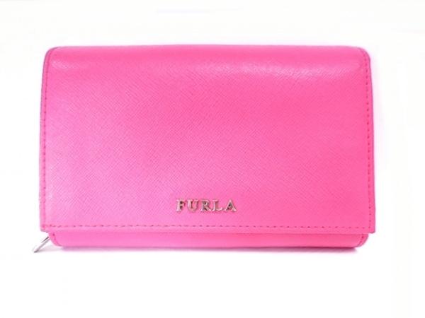 FURLA(フルラ) 2つ折り財布 ピンク レザー