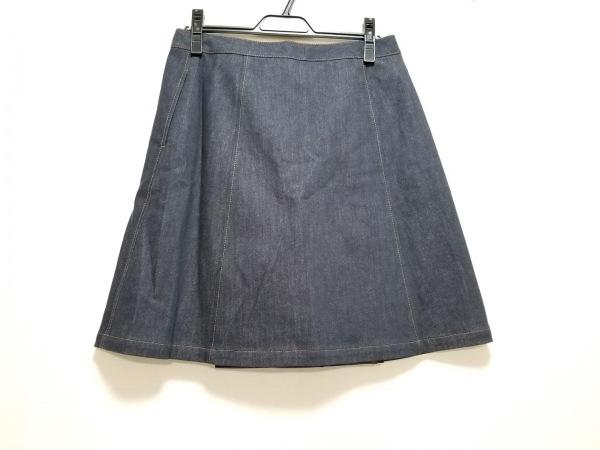 フォクシーニューヨーク 巻きスカート サイズ40 M レディース新品同様  ネイビー