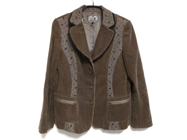 ROSSA(ロッサ) ジャケット サイズ44 L レディース ブラウン×黒 春・秋物