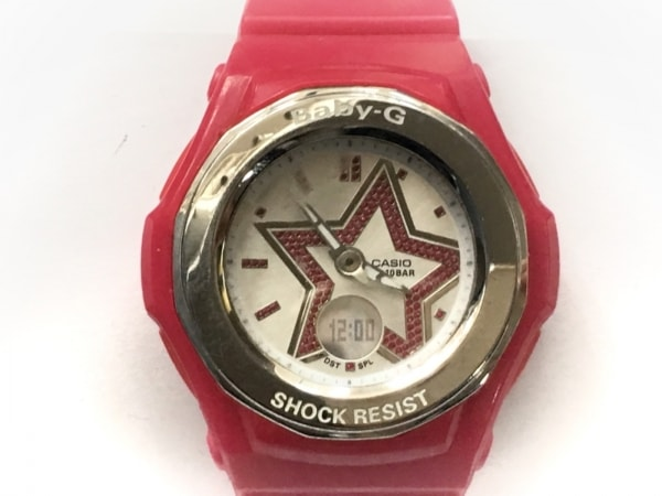CASIO(カシオ) 腕時計 Baby-G BGA-103 レディース ラバーベルト シルバー×ピンク