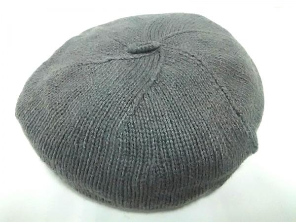 RalphLauren(ラルフローレン) 帽子美品  ダークグレー×ブラウン ベレー帽