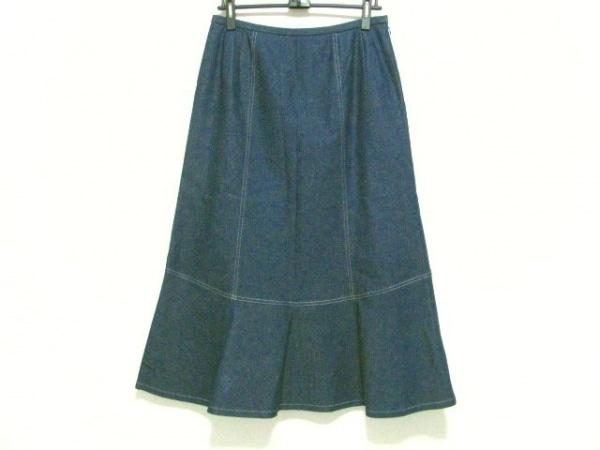 レリアン ロングスカート サイズ13+ S レディース美品  ネイビー デニム/ラメ