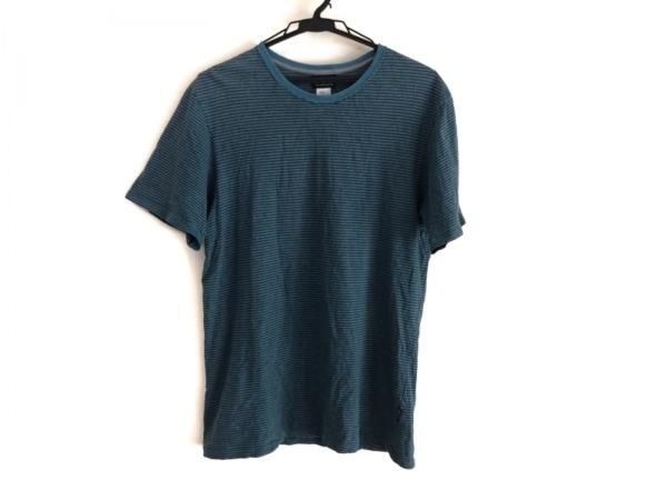 Patagonia(パタゴニア) 半袖Tシャツ メンズ ライトブルー×黒 ボーダー