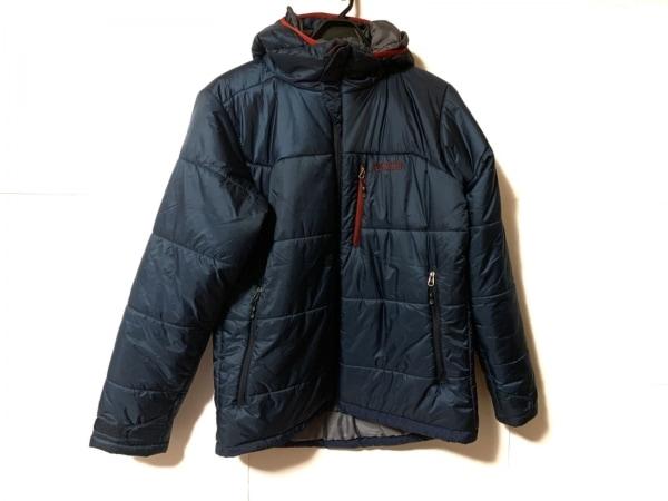 AIGLE(エーグル) ダウンジャケット サイズM メンズ ネイビー×レッド 冬物