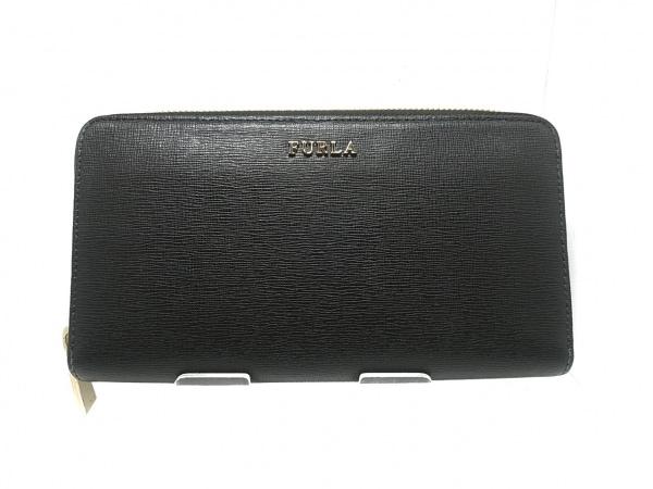 FURLA(フルラ) 長財布美品  黒 ラウンドファスナー レザー