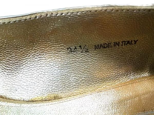 ジミーチュウ フラットシューズ 34 1/2 レディース ゴールド グリッター×金属素材