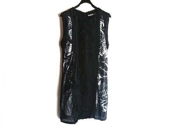 Desigual(デシグアル) ワンピース サイズ42 L レディース美品  黒×白