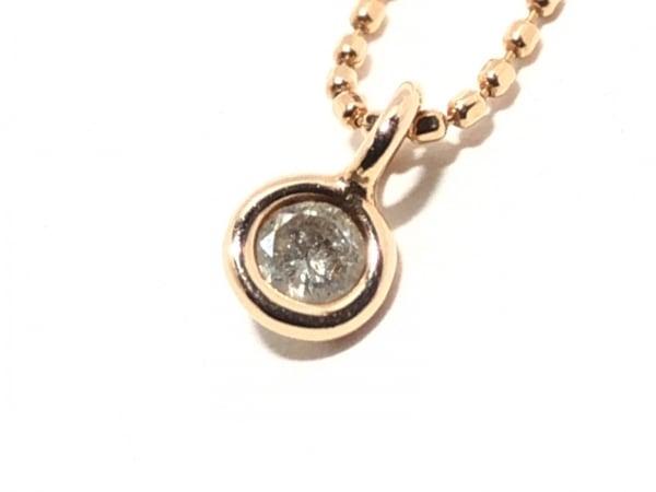 agete(アガット) ネックレス美品  K10×ダイヤモンド 0.1カラット