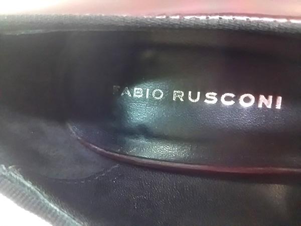 ファビオルスコーニ パンプス 37 レディース ダークブラウン リボン レザー