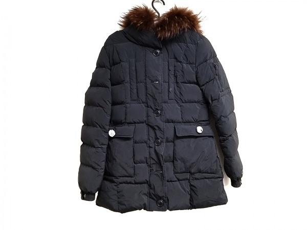 タトラス ダウンジャケット サイズ02 M レディース LTA-4174 黒 冬物/ファー取外し可