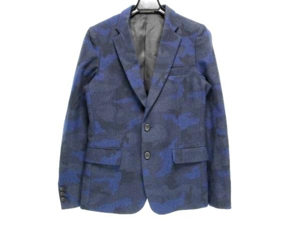 ジャーナルスタンダード ジャケット サイズS メンズ 黒×ブルー 迷彩柄
