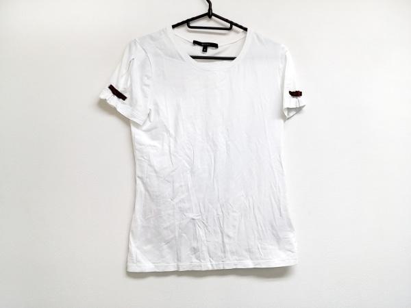 グッチ 半袖Tシャツ サイズM レディース シェリー 白×グリーン×レッド リボン