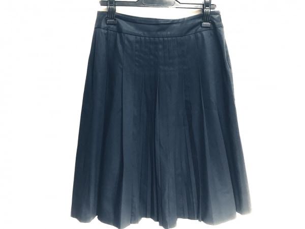 セオリーリュクス スカート サイズ38 M レディース美品  ダークネイビー プリーツ