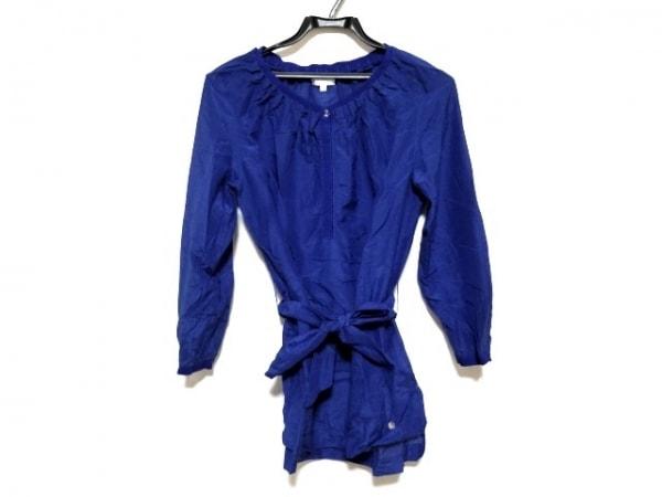 ESCADA(エスカーダ) 長袖シャツブラウス サイズ32 S レディース美品  ブルー ビジュー
