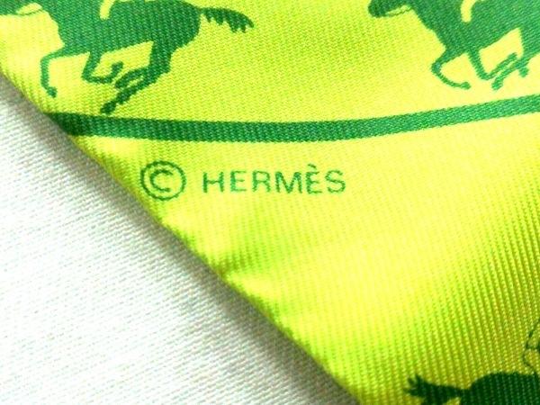 HERMES(エルメス) スカーフ ツィリー ライトグリーン×グリーン