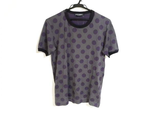 DOLCE&GABBANA(ドルチェアンドガッバーナ) 半袖Tシャツ サイズ44 S メンズ ドット柄