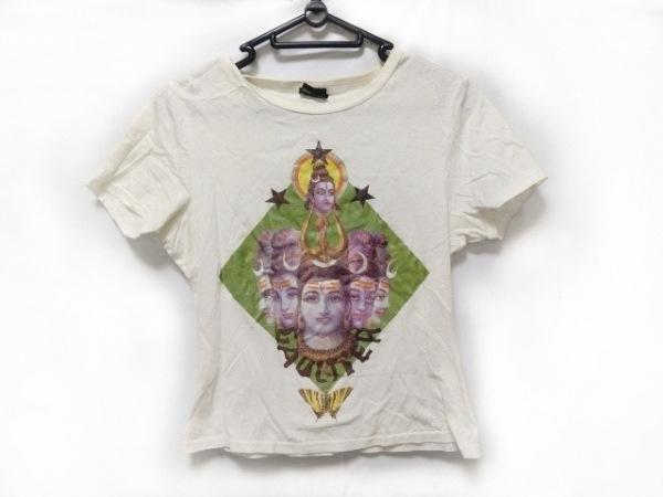 JeanPaulGAULTIER(ゴルチエ) 半袖Tシャツ レディース 白×ライトグリーン×マルチ