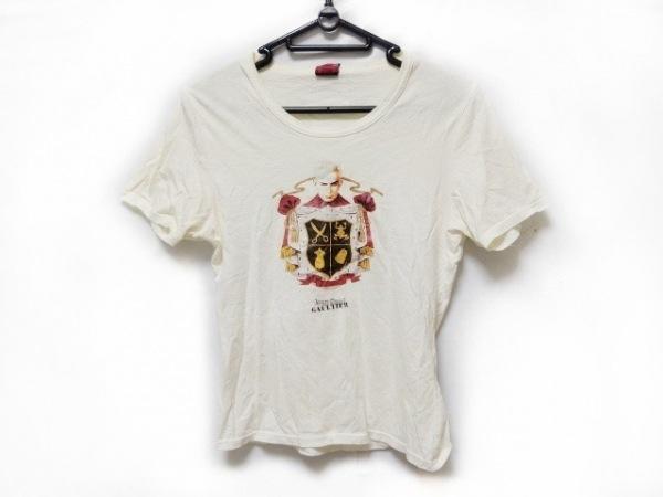 ゴルチエ 半袖Tシャツ サイズ40 M レディース アイボリー×マルチ CLASSIQUE